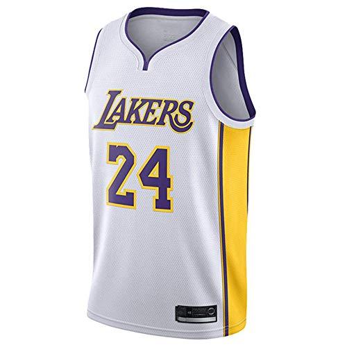 YSA Herren Damen Trikot - Los Angeles Lakers 24# Bryant Trikots Atmungsaktives Besticktes Basketball Swingman Trikot