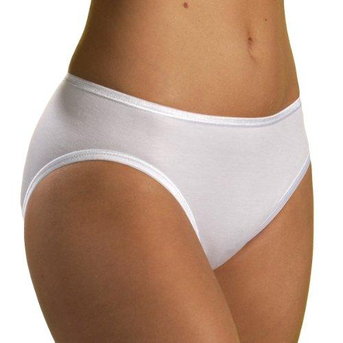 HERMKO 1031 5er Pack Damen Midi-Slip aus 100% Baumwolle, Farbe:weiß, Größe:52/54 (XXL)
