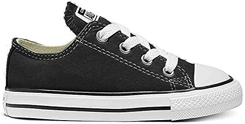 Converse Unisex-Kinder C. Taylor All Star Youth OX 3J2 Low-Top, Schwarz, 29 EU