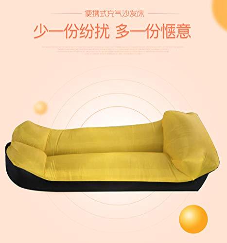 Gifftiy Farbanpassungskissenmodelle faul aufblasbares Sofa tragbarer Schlafsack Strandluftschlafsofa im Freien-C_240 * 55