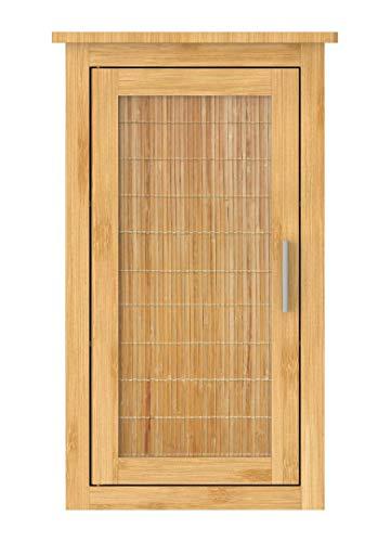 EISL Hängeschrank Bad, Badezimmerschrank schmal für die Wand, nachhaltige Badmöbel Bambus, Wandschrank, BMBA02-WS, Braun, (B x H x T): ca. 40 x 70 x 20 cm