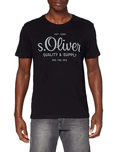 s.Oliver Herren T-Shirt, Schwarz, L