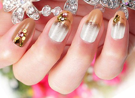 Künstliche Fingernägel False Nail Tips Fake Nails, French Style 3DF-147 Nail Sticker Tattoo - FashionLife