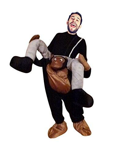 Ikumaal Carry me Affen-Kostüm, F102 Gr. M- XL, Affen-Kostüme AFFE Kostüme Affen-Faschingskostüm, Fasching Karneval, Faschings-Kostüme, Geburtstags-Geschenk Erwachsene, Huckepack