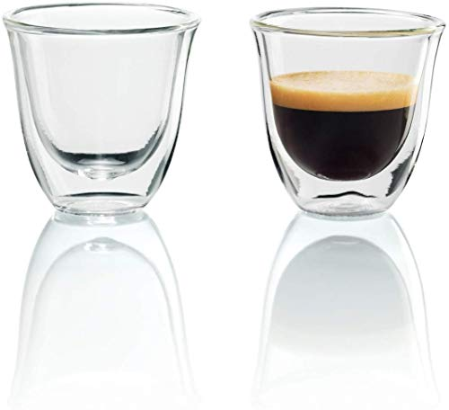 De'Longhi isolierte Espresso-Gläser, 2er Set, Thermogläser 5513214591