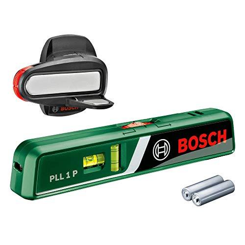 Bosch Laser-Wasserwaage PLL 1 P (Arbeitsbereich Linienlaser 5 m, Arbeitsbereich Punktlaser 20 m, im Karton)