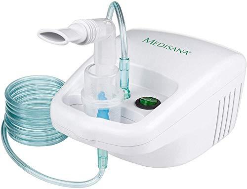 Medisana IN 500 Inhalator, Kompressor Vernebler mit Mundstück und Maske für Erwachsene und Kinder, bei Erkältungen oder Asthma mit extra viel Zubehör und langem Schlauch