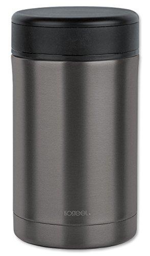 Isosteel VA-9684AT Compact 0,5L Isolierbehälter für Lebensmittel, Edelstahl, Grau, 0,5 Liter