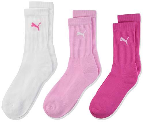 PUMA Kinder SPORT JUNIOR 3P Socken, pink lady, 35-38 (3er Pack)