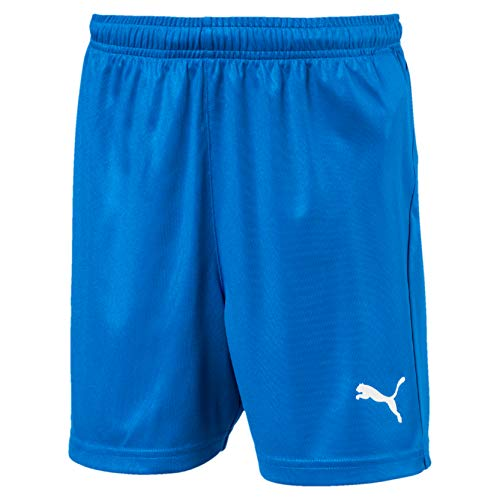 PUMA Kinder LIGA Core Shorts, Electric Blue Lemonade/White, 152