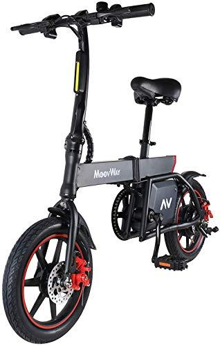Elektrofahrrad, 14 Zoll E-Bike, Elektro Faltrad mit Lithium-Akku (36V 6.0Ah), 350W Motor, 15-20 Meilen Pedelpraktisches Elektro Klappfahrrad, perfekt für die Stadt (Grau)
