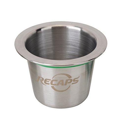 Recaps Edelstahl-Kapsel, wiederverwendbar, kompatibel mit Nespresso Original Line Maschine, aber nicht alle (nur 1 Kapsel, Deckel nicht enthalten)
