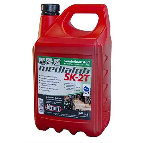 KETTLITZ 5 Liter Medialub SK-2T Alkylatbenzin für 2 Takt, Zweitaktmotoren, KWF Geprüft