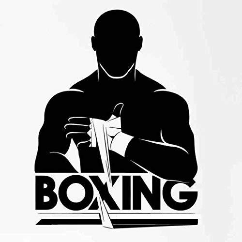 Boxhandschuh Aufkleber Kick Boxer Spiel Auto Aufkleber Free Combat Poster Vinyl Stürmer Wandtattoos Dekor 58x78 cm