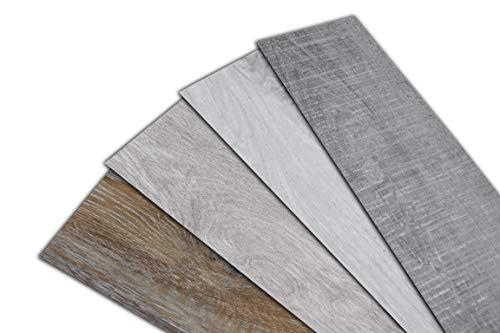 HOME DELUXE Vinylboden – 1m² – selbstklebend – verschiedene Farben – V6 Nussbaumholz