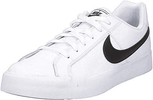 Nike Mens Court Royale AC Sneaker, White/Black, 45 EU