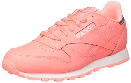 Reebok Mädchen Classic Leather BS8981 Sneaker, Pink (Sour Rose Melon/White), 37 EU