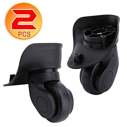 Dilwe 1 Paar Koffer Ersatzräder Universal PVC Räder für Gepäck Koffer Trolley (W041-2 S)