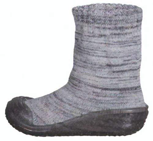 Playshoes Jungen Unisex Kinder Socke gestrickt Hohe Hausschuhe, Grau (Grau 33), 22/23 EU