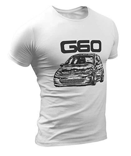 Golf MK II G60 Herren Grunge T-Shirt (S, Weiß)