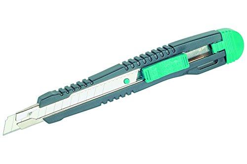 Wolfcraft 4141000 1 Standard Cutter, Abbrechklingenmesser mit Edelstahl-Klingenführung und 9 mm Klinge