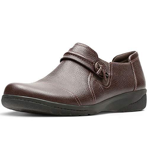 Clarks Cheyn Madi Womens Wide Fit Casual Shoes 39 EU Dunkelbraun