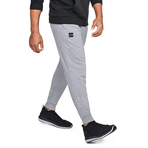 Under Armour Herren UA Rival Fleece Jogginghose, leichte Sporthose, komfortable und bequeme Laufhose mit loser Passform, Grau (Steel Light Heather/Black 036), XL