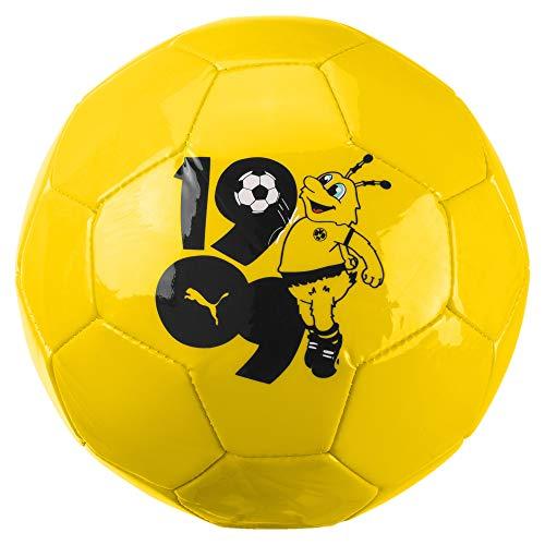 PUMA Unisex– Erwachsene BVB Kids Graphic Mini Ball Fußball, Cyber Yellow Black