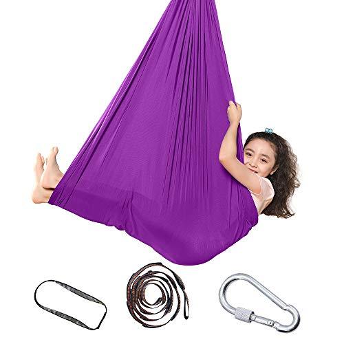 Topchances Indoor-Therapie-Schaukel für Kinder und Jugendliche, weiche Hängematten-Schaukel mit besonderen Bedürfnissen für Kinder, für Yoga, sensorische Integration, Outdoor, Camping