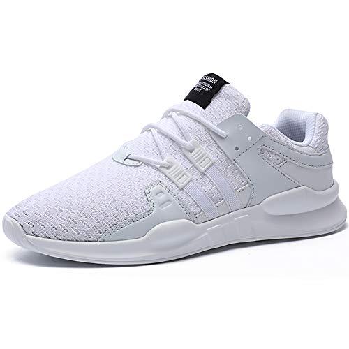 BAOLESME Herren Sportschuhe Atmungsaktiv Gym Laufschuhe Leichtgewicht Turnschuhe Freizeit Outdoor Sneaker, 02 Weiß, 43 EU