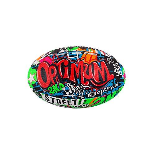 OPTIMUM Unisex-Adult 2nd Rugby Ball Street Ii Rugbyball für Herren, Mehrfarben, Größe 3, Graffiti, 3