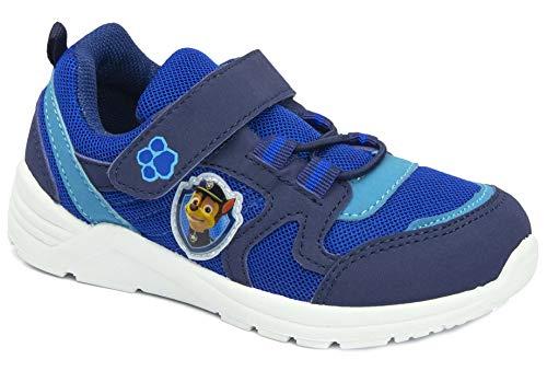 Blinkfunktion Jungen Sneaker Kinderschuhe Blinkschuhe Turnschuhe Dunkelblau, kompatibel mit Paw Patrol Gr.24 25 26 27 28 29 30 31 (Numeric_30)
