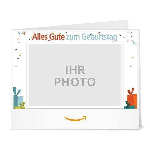 Amazon.de Gutschein zum Drucken mit eigenem Upload (Geburtstag)