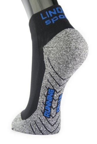 Lindner socks Running Short - Laufsocken, 44-46, schwarz