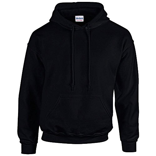 Gildan - Unisex Kapuzenpullover 'Heavy Blend' , Black, Gr. XL