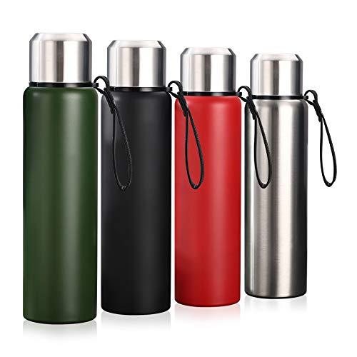 Y·J&H Edelstahl Trinkflasche Wasserflasche - Vakuum Isolierte Auslaufsicher Thermosflasche 800ml/1000ml, BPA frei Doppelwandige Thermoskanne für Kinder, Camping, Schule, Fitness