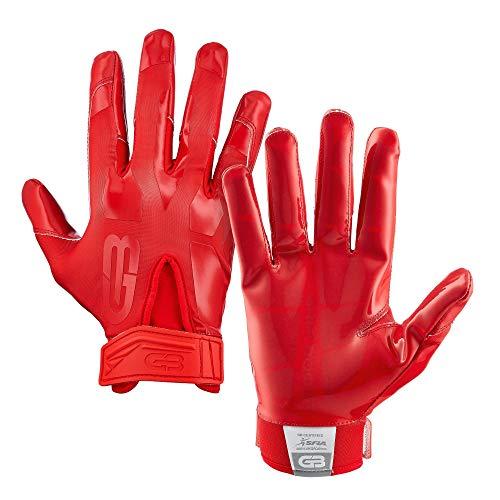 GRIP BOOST Stealth Solid Color Fußballhandschuhe, Erwachsenengröße, Herren, rot, m