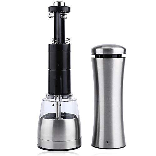 Automatisch nachfüllbare Handschüttle Qualitäts-elektrische Pfeffermühle Salz und Pfeffer The Grinder Kitchen Tools-Silber-Edelstahl-Werkzeug