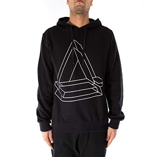 Eleven Paris Sweatshirt schwarz mit Kapuze, 3689-sgrigio, Grau, 3689-sgrigio Small