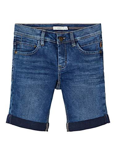 NAME IT Jungen NKMSOFUS DNMCARTUS 2317 Long Camp Jeans-Shorts, Medium Blue Denim, 128