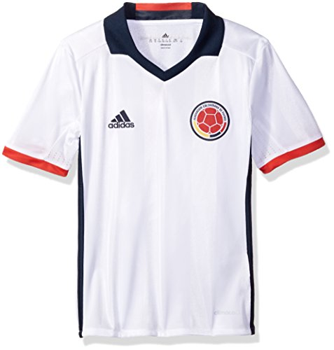adidas Fußball Youth Colombia Trikot Small, White/Collegiate Navy