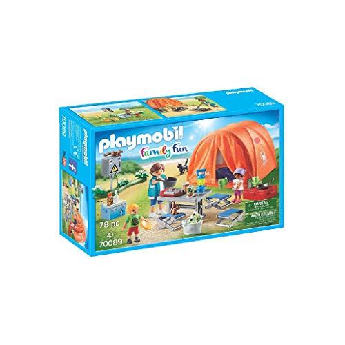 PLAYMOBIL Family Fun 70089 Familien-Camping, Ab 4 Jahren