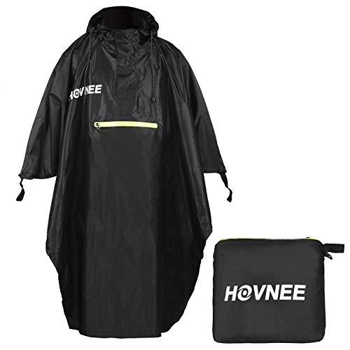 HOVNEE Regenponcho, 100% wasserdichter Multifunktions Outdoor Regen Poncho, geeignet für Männer/Frauen,Regencape Regenponcho, Wandern, Radfahren, Camping und Festivals usw (L/XL)