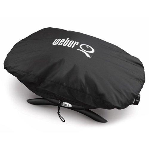 Weber Premium Grillabdeckung Q 100/1000 Serie, schwarz, 27,9 x 25,4 x 23,6 cm, 7117