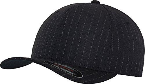 Flexfit Erwachsene Mütze Pinstripe, Navy/Wht, S/M, 6195P