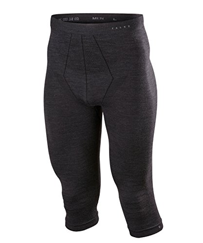 FALKE Herren, Tights Wool Tech. 3/4 Merinowollmischung, 1 er Pack, Schwarz (Black 3000), Größe: XL