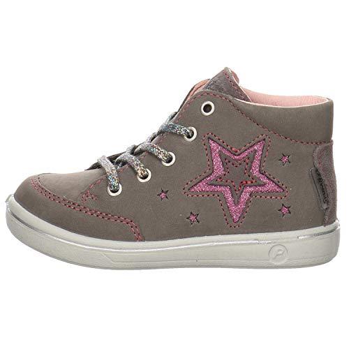 RICOSTA Kinder Lauflern Schuhe SINJA von Pepino, Weite: Mittel (WMS),wasserfest, schnürschuh schnürstiefelchen flexibel,Meteor,23 EU / 6 Child UK