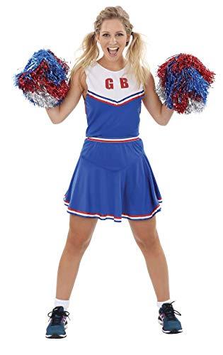 ORION COSTUMES Damen Blaues Cheerleader-Outfit トTeam Cheerモ Maskenkostüm