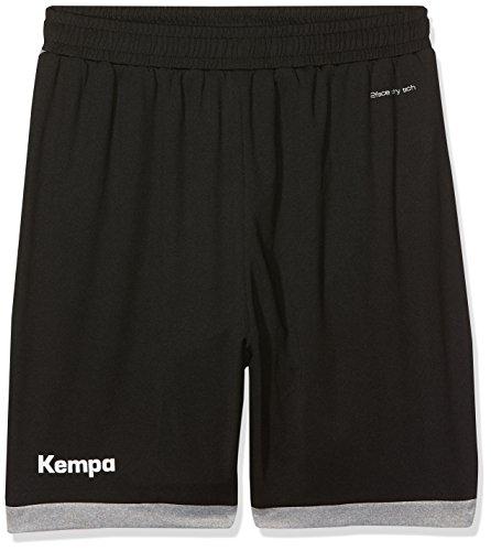 Kempa Kinder Core 2.0 Shorts, schwarz/dark grau melange, 152 (XXS)