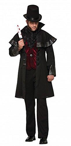 shoperama Jack The Ripper Halloween-Kostüm für Herren Gr. L Aufschlitzer GRAF Dracula Vampir Serienmörder